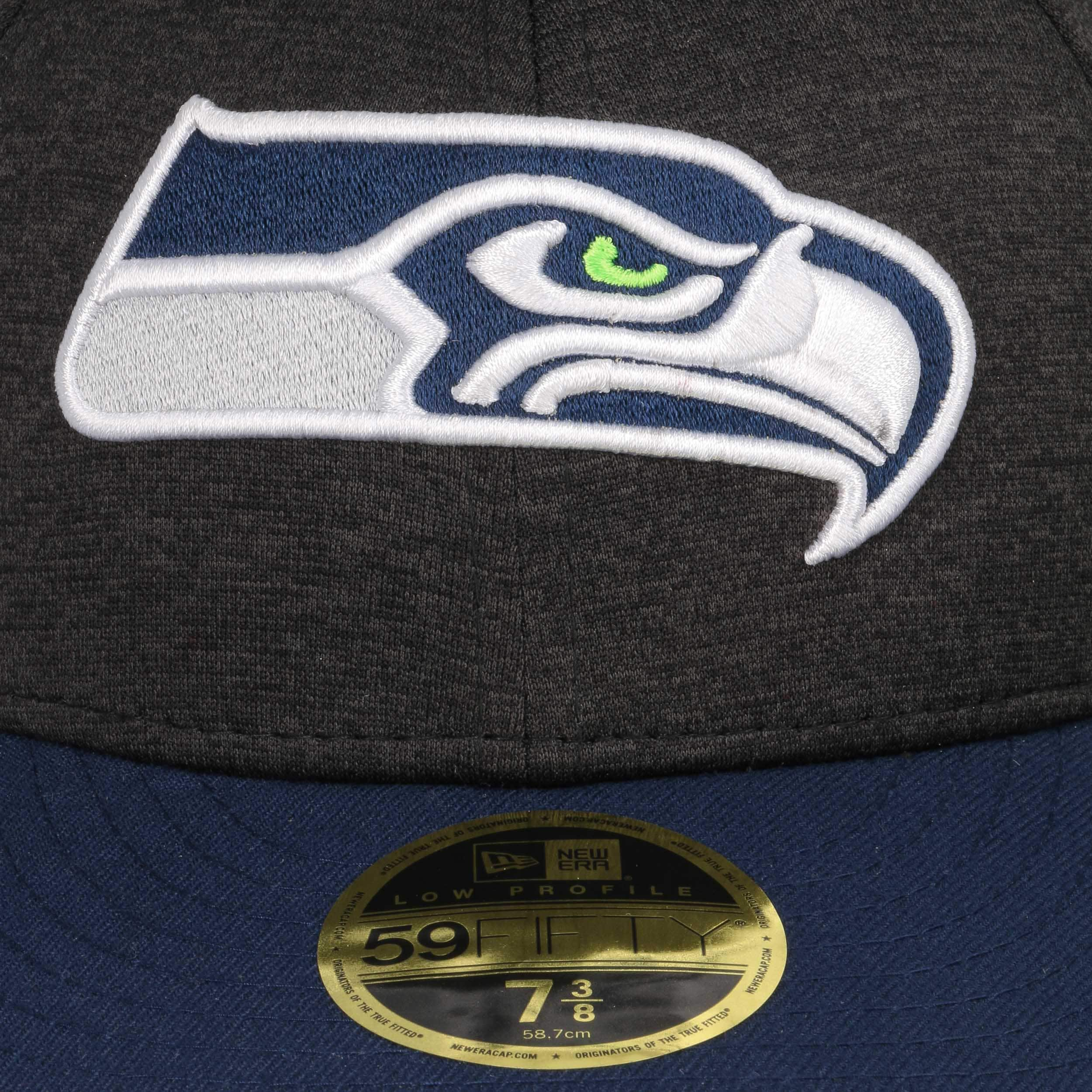 8cb7340b ... 59Fifty Low Profile Tech Seahawks Pet by New Era - donkergrijs 5 ...