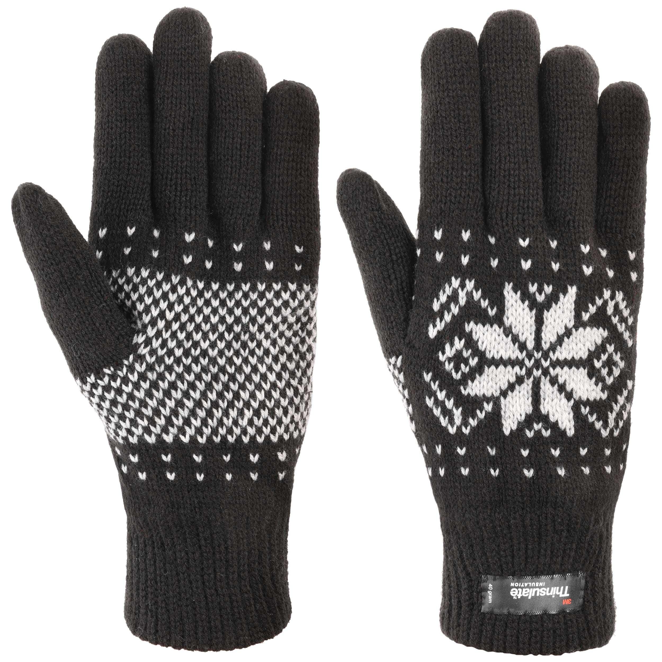snowflake thinsulate handschoenen by lipodo 15,95 \u20acsnowflake thinsulate handschoenen by lipodo zwart 3