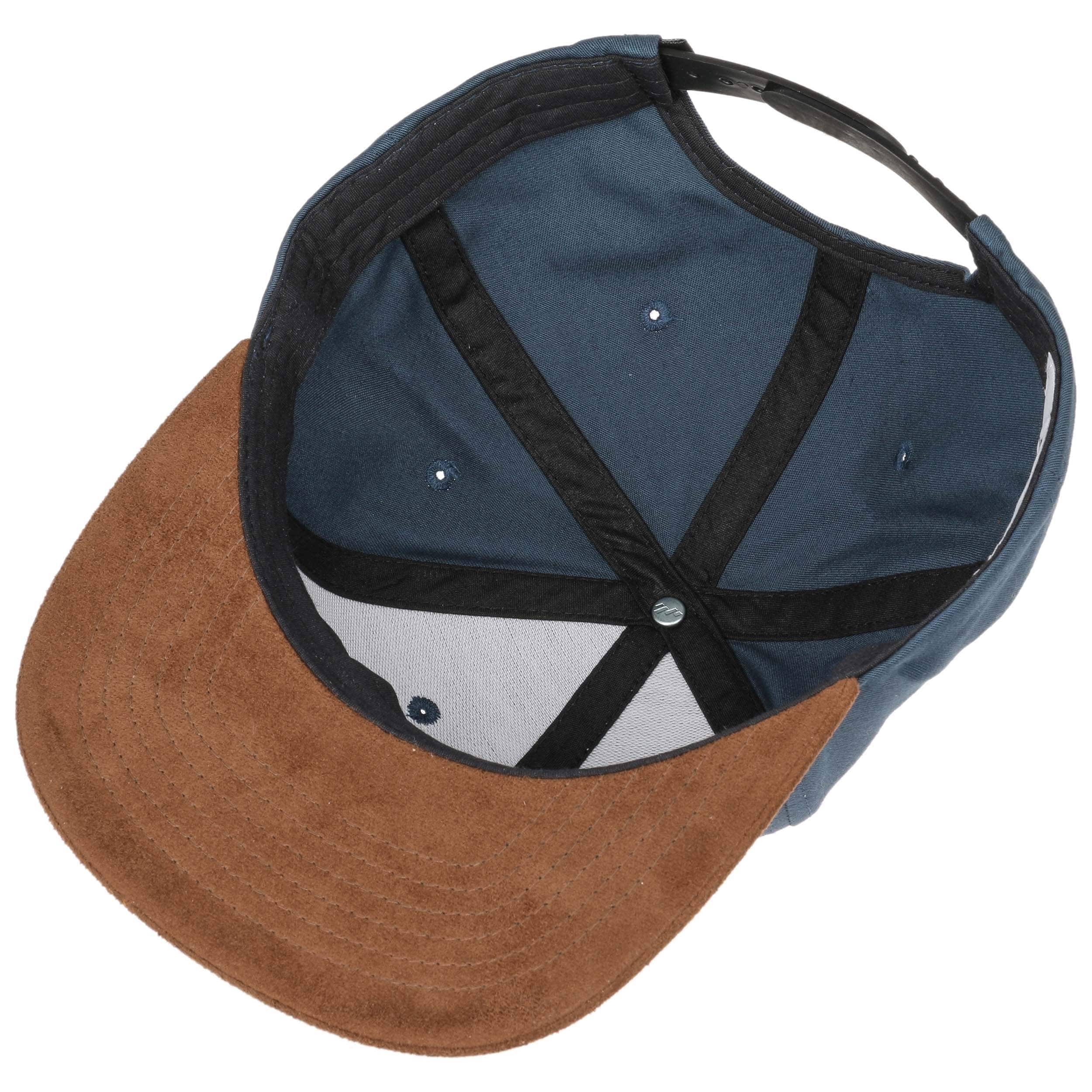 ... Suede 6 Panel Snapback Pet by Reell - blauw 2 ...