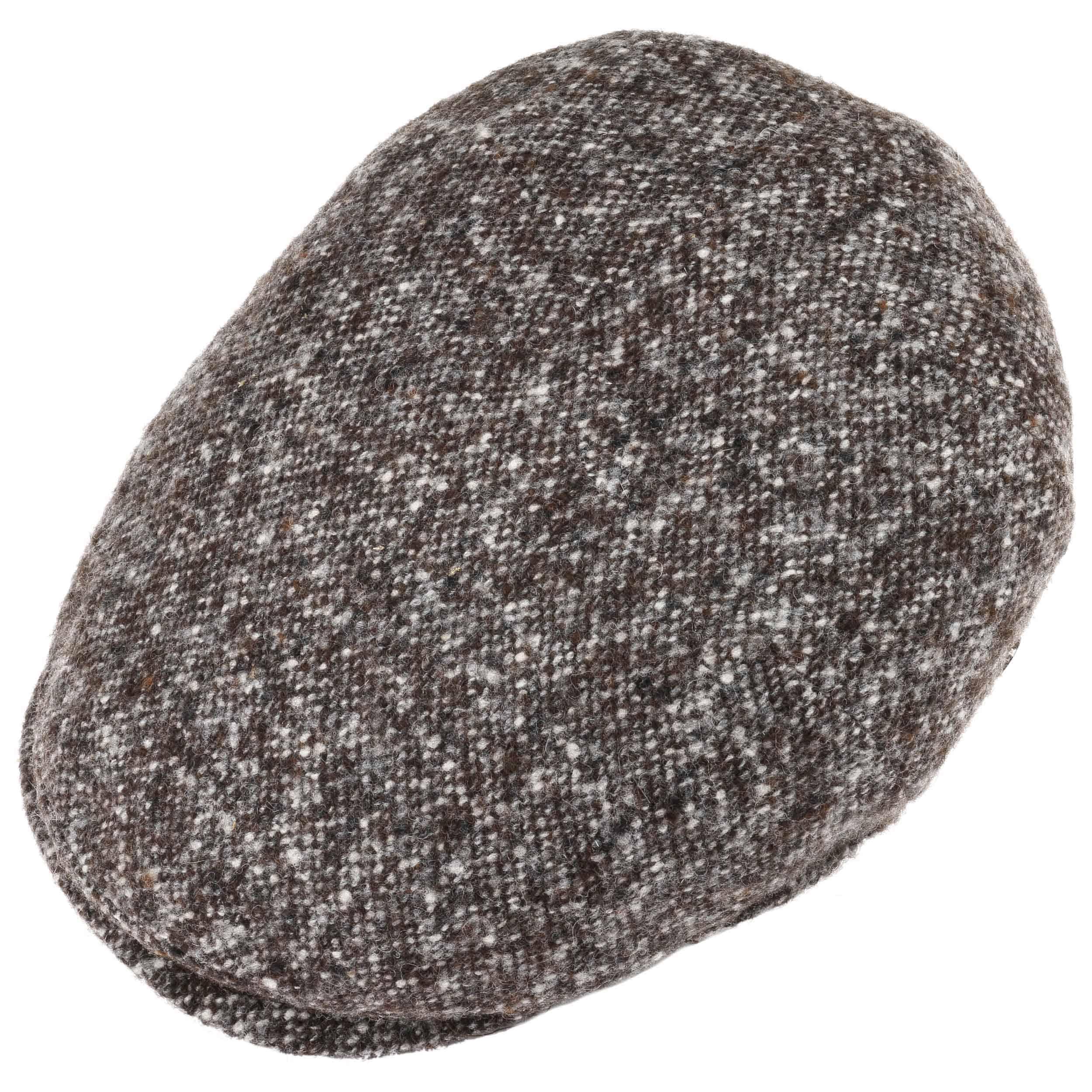 7948a6ae2ed Virgin Wool Tweed Flat Cap by Lierys - bruin 1 ...